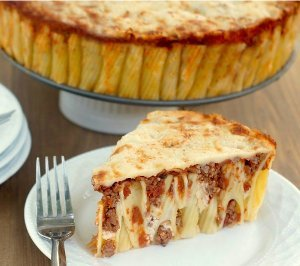 Three Cheese Rigatoni Pie