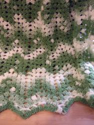 No Beginning Chain Granny Ripple Afghan