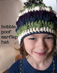 Bobble Poof Earflap Hat
