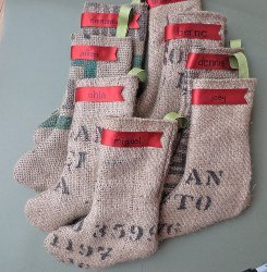 Burlap Bag Stocking Christmas Craft Ideas