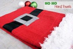 Santa Themed Hand Towels