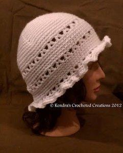 Vintage Ruffled Brim Hat