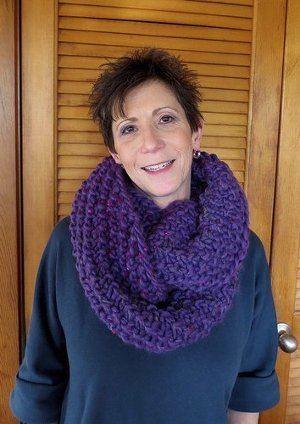 Chunky Orchid Cowl