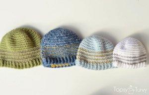Striped Crochet Beanie