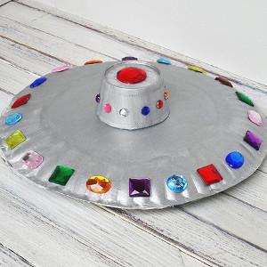Paper Plate UFO Craft