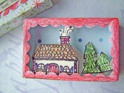 Mini 3D Christmas Diorama
