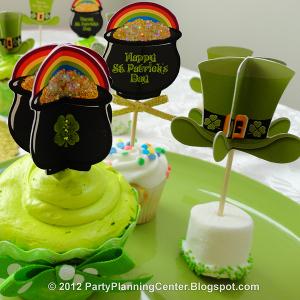 Pot O' Gold Cupcake Picks