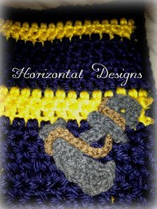 Anchor Crochet Applique