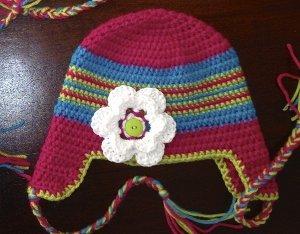 Newborn Braided Ear Flap Hat