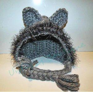 Fuzzy Wolf Bonnet
