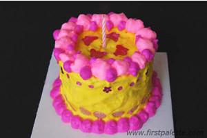 Shaving Cream Birthday Cake