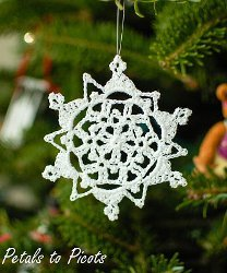 Picot Loops Crochet Snowflake