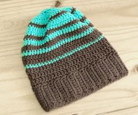 Striped Hipster Slouchy Beanie