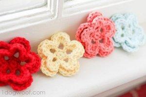 5 Petal Crochet Flower