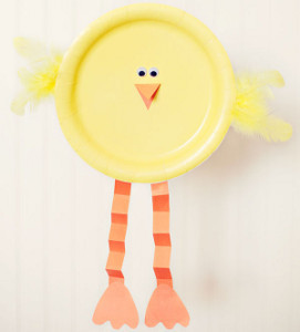Baby Chick Paper Plate Craft