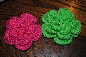 Triple Layer Crochet Flower