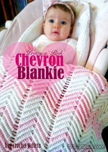 Pretty in Pink Chevron Baby Blanket