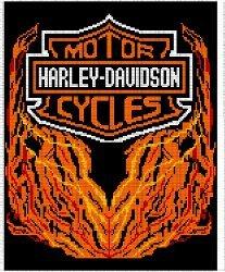 Harley Davidson Afghan