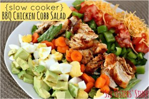 Slow Cooker BBQ Chicken Cobb Salad