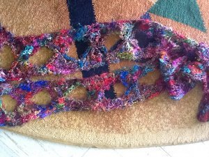 Silk Yarn Butterfly Scarf