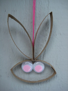 Paper Tube Easter Bunny