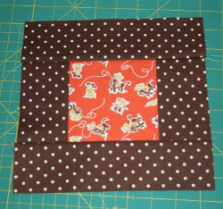 Addicting Orange Quilt Block