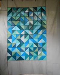 Modern Geometric Quilt Pattern