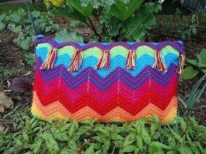 Rainbow Ripple Pillow