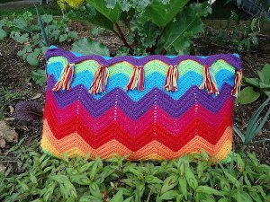 Rainbow Ripple Pillow