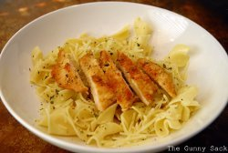 Copycat Noodles and Company Parmesan Chicken and Buttered Noodles