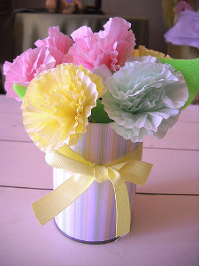 Cupcake Liner Centerpiece Tutorial