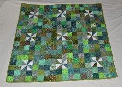 Peter's Pinwheels Baby Quilt