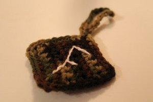 Diamond Crochet Luggage Tag
