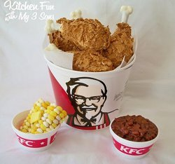 Copycat KFC Fried Chicken Bucket and Sides