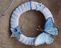 Blue Butterfly Wreath