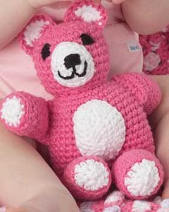 Crochet Patterns Using Bernat Home Bundle : Huggable Teddy Toy AllFreeCrochet.com
