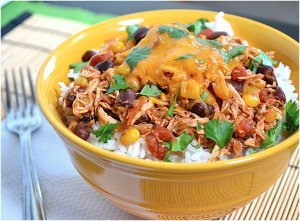 Slow Cooker Budget Taco Chicken Bowls