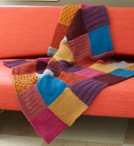 Granny Square Tunisian Throw