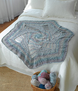Spiral Crocheted Afghan