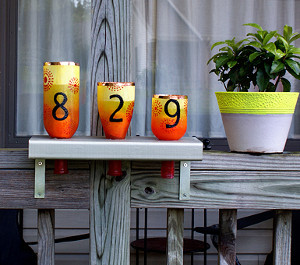 Wine Bottle Address Lanterns