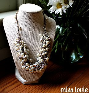 DIY Statement Bridal Necklace