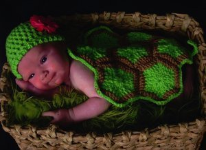 Infant Turtle Shell Photography Prop