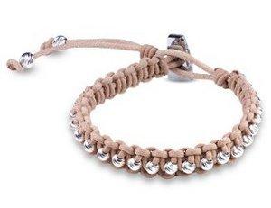 Studded Leather Macrame Bracelet