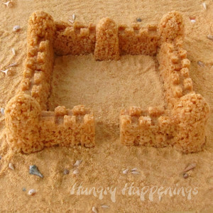 Easy Edible Sand Castle Krispie