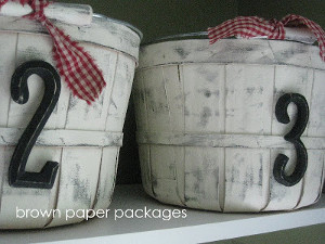 Painted Laundry Room Apple Baskets