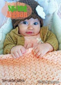 Peach Spring Baby Afghan