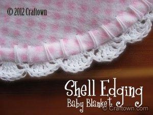 Baby Blanket Shell Edging