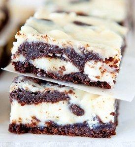 Black and White Cake Bars