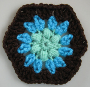 Puff Stitch Hexagon