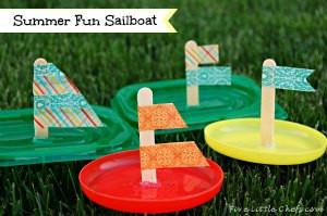 Dollar Store Sailboat Float